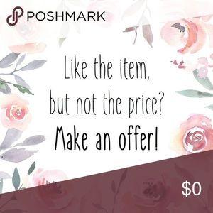 Accessories - Make an offer